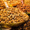 Bowls of dried fruit and nuts, Delhi Spice Market, India