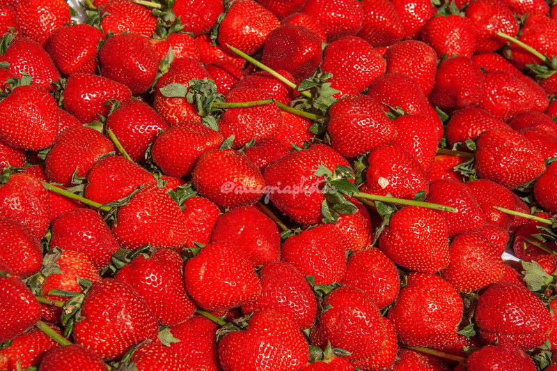 Mounds of red strawberries
