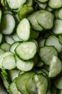 A gaggle of pickle slices