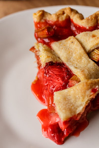 Strawberry Rhubarb Pie Slice 01