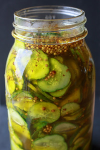 Brine just poured over the pickles