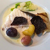 Fish with shaved truffles, Paris