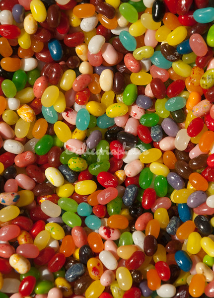 A mess of jelly beans