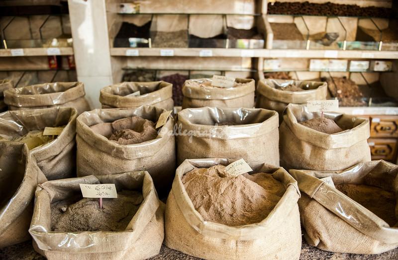 Bags of Flour in an Amman grocery, Jordan