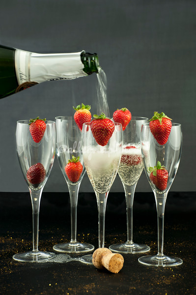 Celebrate with Prosecco and strawberries