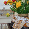 Italian Easter Cake and flowers near the Vatican, Rome