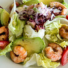Avocado, shrimp and octopus salad, Hotel Altiplanico, Easter Island