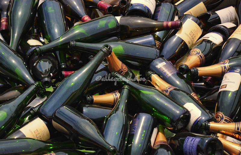 The remains of wine-tasting