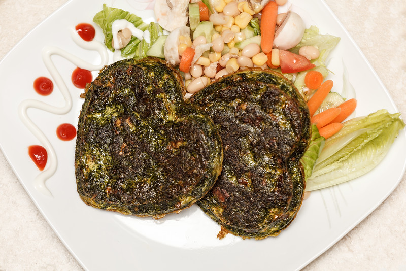 Persian herbed quiche (omelette), a favorite and famous Persian food even for Ramadan.