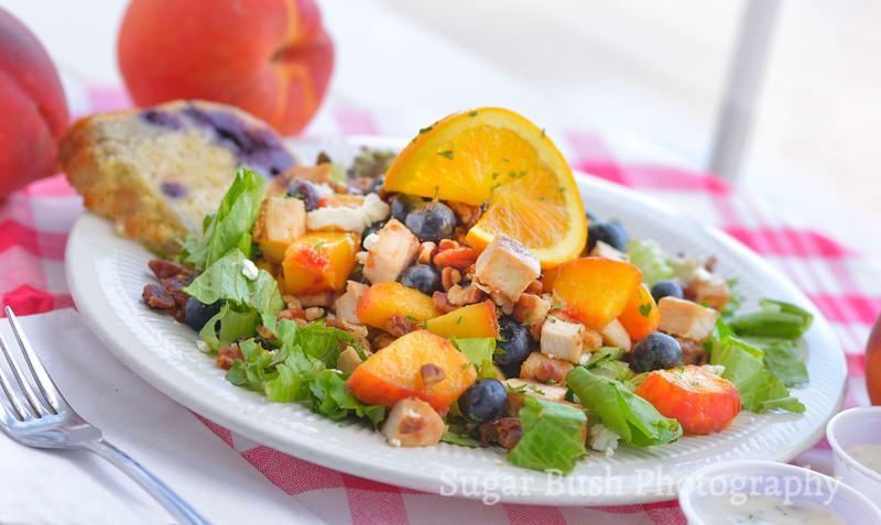 Rebecca's Bistro Peach Blueberry Salad