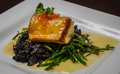 Hawaiian Escolar Black Rice Sea Beans Smoked Roe Butter