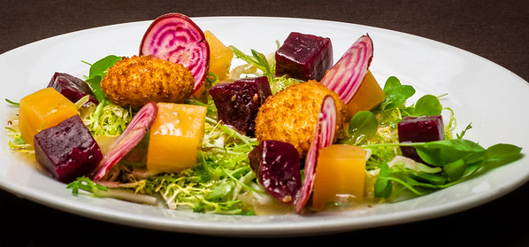 Beet Salad with Toasted Goat Cheese, Watercress and Anise Vinaigrette