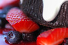Chocolate Fondant with Fresh Berries and Créme Frâiche Dessert