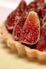 Black Turkey Fig Tart on Crême Anglaise Dessert