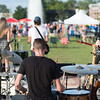 August 21, 2015 Rock Hill, South Carolina-The community enjoys Food Truck Friday Night at the Fountain Park in Old Town.