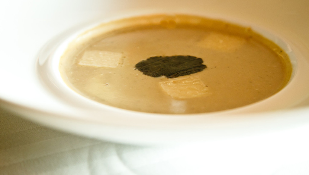Artichoke and Black Truffle Soup