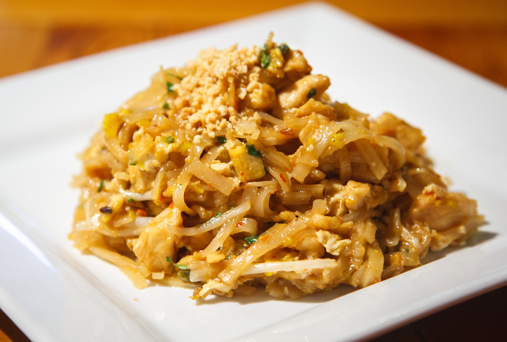Chef's Special Pad Thai - Sweet, sour and savoury - Topped with roasted peanuts, dried chilli and freshly squeezed lime juice