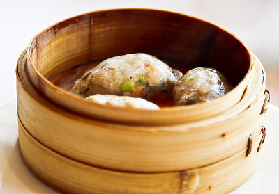 Steamed Vegetable Dumplings with Bamboo Piths