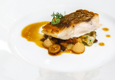 SNAPPER WITH SOY BUTTER &NAMEKO MUSHROOMS