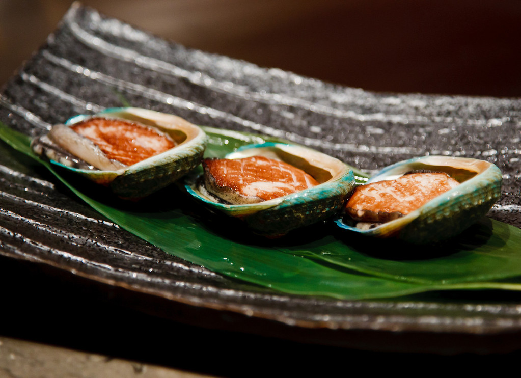 Tasmanian Abalone presented before cooking