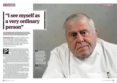 Albert Roux - Chef Magazine Oct 2013
