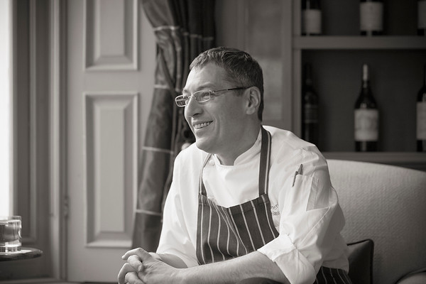 Award winning chef Daniel Galmiche at The Vineyard, Berkshire.
