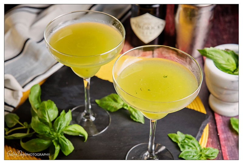 Gin Basil Smash Summer Delight