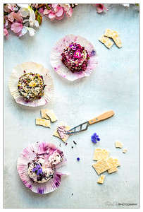Herb & Flower Crusted Goat Cheeses