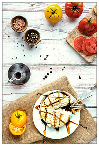 Burrata with Balsamic Vinegar Drizzle