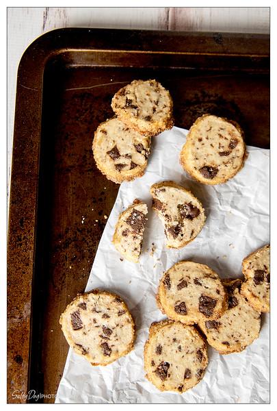 Salted Chocolate Chunk Shortbread Cookies