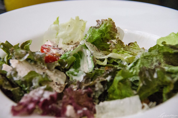 """I come to praise the Caesar's salad, not to photograph it"""