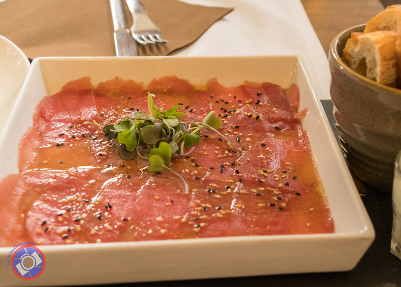Tuna Carpaccio at Antic Casino in Pals (©simon@myeclecticimages.com)