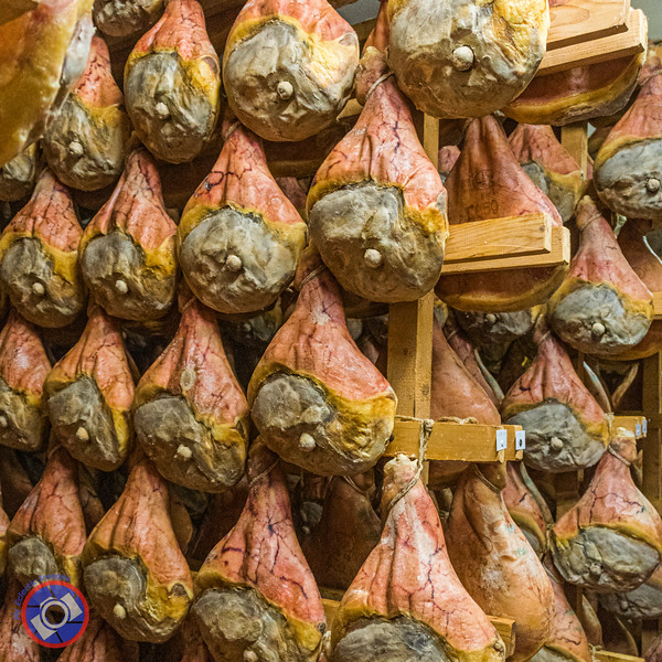 Aging Prosciutto de Modena Hams - a famed product of Emilia-Romagna (©simon@myeclecticimages.com)(©simon@myeclecticimages.com)