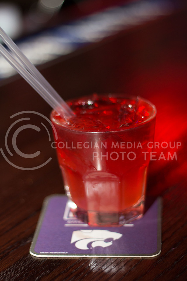 The Slurpee from Tanners, black cherry rum, sweet and sour, sprite, and cranberry juice. 14 Sept 2017 (Alex Shaw | Collegian Media Group)