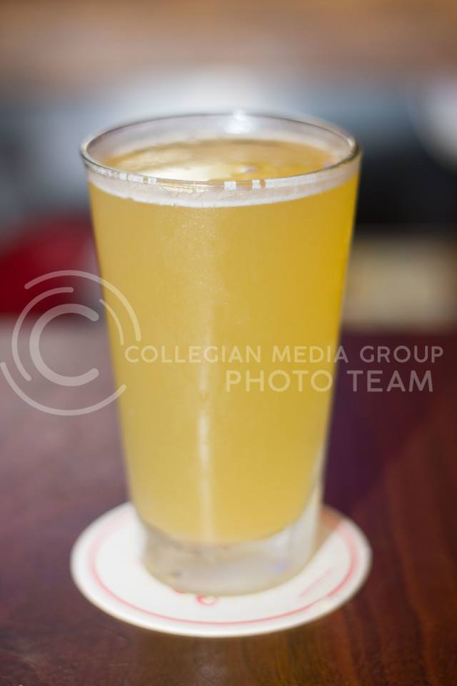The Nancy from Taco Lucha, contains Old Milwaukee Beer and a couple ounces of pineapple juice. 14 Sept 2017 (Alex Shaw | Collegian Media Group)