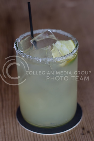 Borubon and Baker has two whiskey cocktails on tap this one is the Whiskey-Rita, Corn whiskey combined with lime margarita mix. 14 Sept 2017 (Alex Shaw | Collegian Media Group)