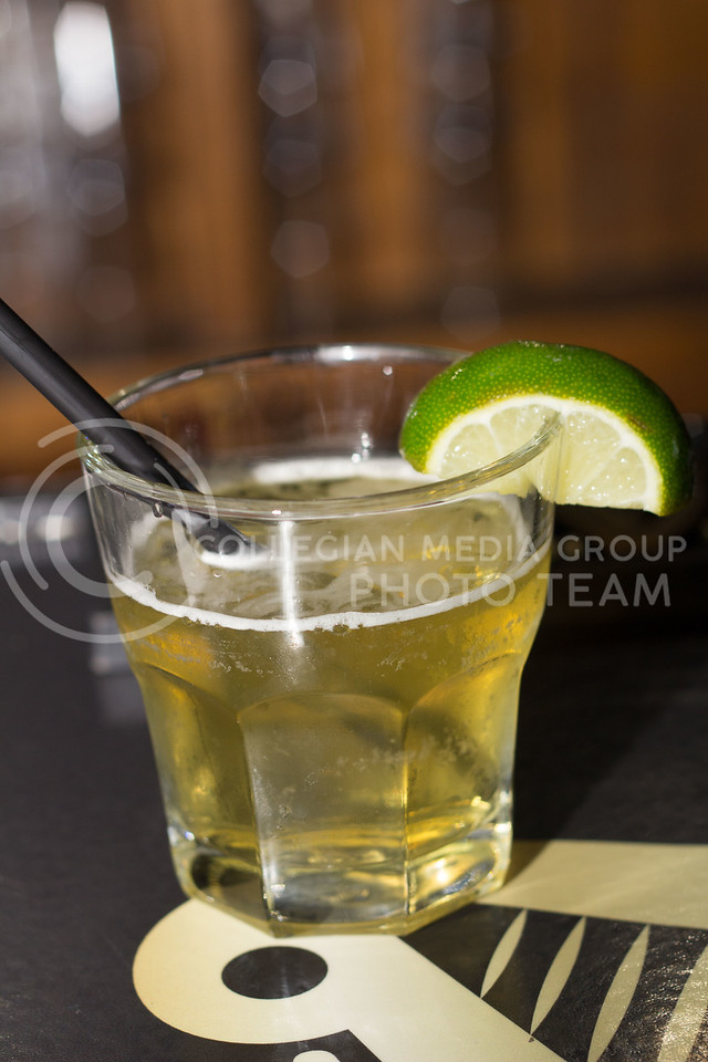 O'Malley's has an irish twist on the Margarita this Bomb combines Jamison, triple sec, lime juice, sour mix and redbull for a drink that is easy to drink and tastes great. 14 Sept 2017 (Alex Shaw | Collegian Media Group)