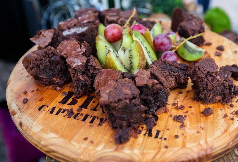 Nadav Soroker/Times-Georgian<br /> <br /> A plate of brownies at the Great Events' catering booth at Taste of Carrollton at Adamson Square, on Thursday, September 13, 2018.