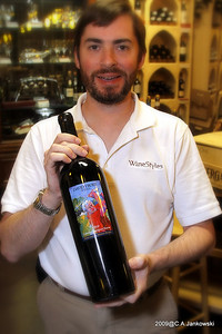 Chris presenting the hottest wine in town David Frost 1999  Cab Re1999 Cabernet Sauvignon Reserve  Rated 89*  93% Cabernet 7% Merlot  Barrels - 100% French Oak (65% new barrels)  Available in 750ml, 1.5 L and 3.0 L bottles   Big, Ripe, Rich and Chocolaty. This mostly Cabernet Sauvignon based wine shows complex layers of black cherry, spice, and currant on the nose. Finishing long with polished tannins and excellent length. Cellaring 8 to 12 years serve.