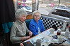 Beverly Wilson, of North Adams, and Elaine Anderson, of Williamstown, enjoy breakfast at Izzy's Pizza and Deli in Adams during the diner's grand opening Thursday. (Jack Guerino/North Adams Transcript)
