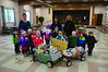 Rhythm and Rhyme Preschool at Cheshire Elementary School donated over $200 worth of food items to the food drive at St. Mary's Church in Cheshire on Friday, November, 22, 2013. The children brought the food over in two wagons from the school. (Gillian Jones/North Adams Transcript)