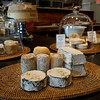 BEN GARVER — THE BERKSHIRE EAGLE<br /> An assortment of goat cheeses are on display at Rubiner's Cheesemongers in Great Barrington.