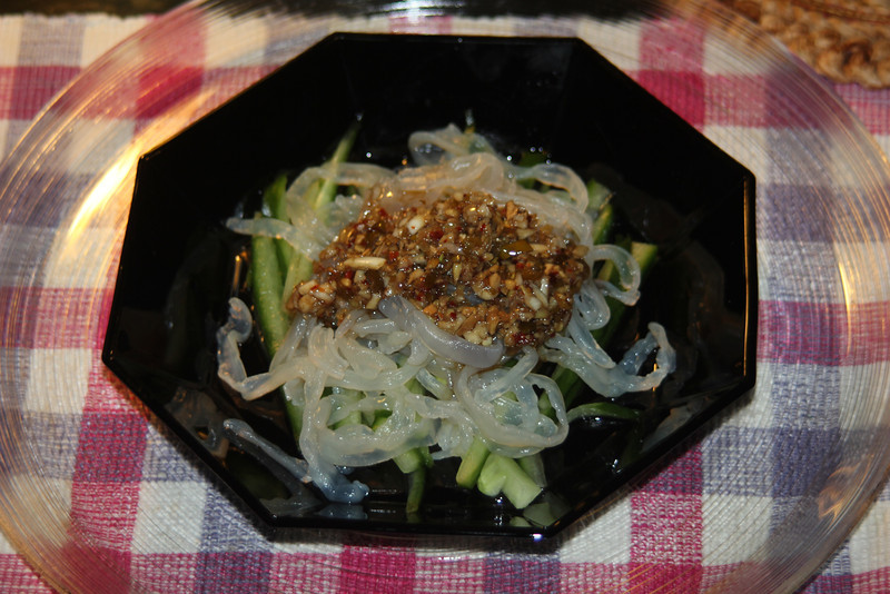 Chilled spicy Jelly Fish & Zuccini salad