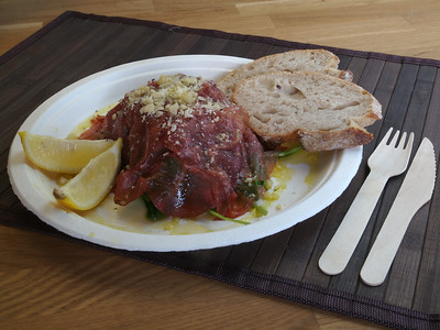 Food from 'La Fattoria' at Copenhagen Streetfood. Photo: Martin Bager