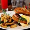 Fried egg sandwich at Malibu Farm Cafe