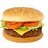 Cheesburger with Clipping Path
