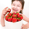 child with strawberries 1