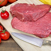 Two Raw Fresh Beef Steak And Tomato Close-Up