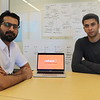UMass Lowell PhD student Ali Ahmed (left) and recent graduate Hamza Waheed are testing the idea of a food sharing platform in Lowell with their Startup, Curaee. SUN/Nicole DeFeudis