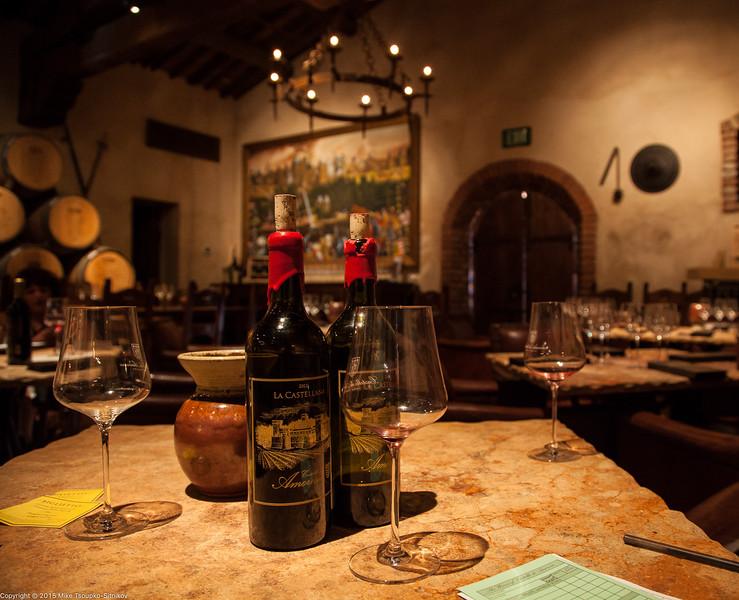 Castello di Amorosa Tasting Room